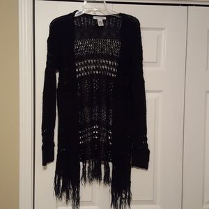 99 Jane Street Crochet knit cardigan, size large